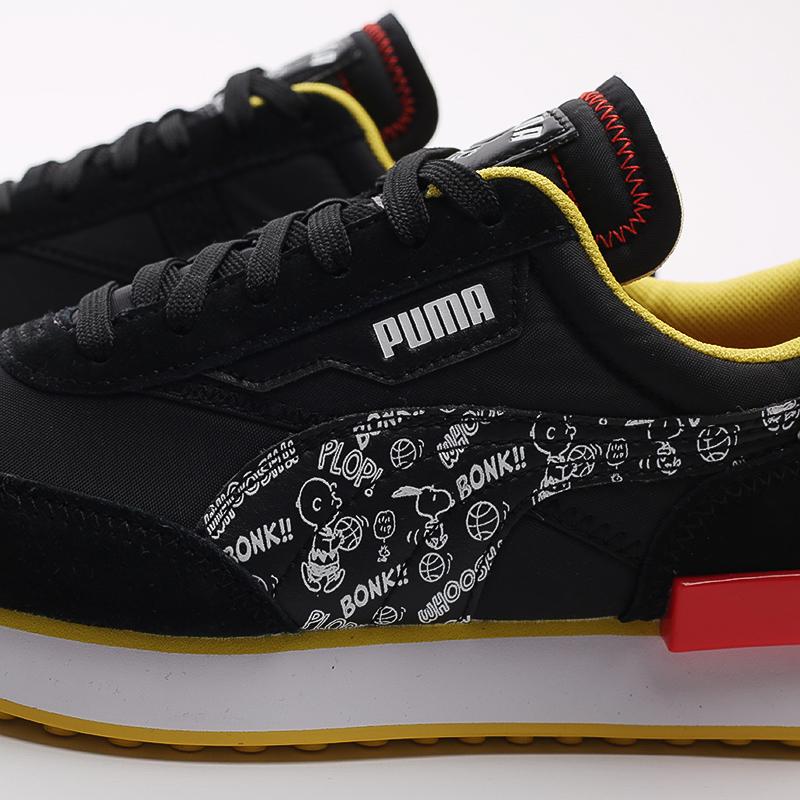 чёрные  кроссовки puma future rider x peanuts 38048301 - цена, описание, фото 6