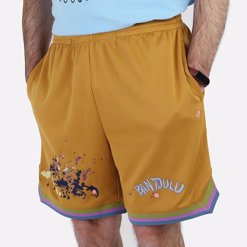 мужские коричневые  шорты  converse x bandulu short 10021727237 - цена, описание, фото 1