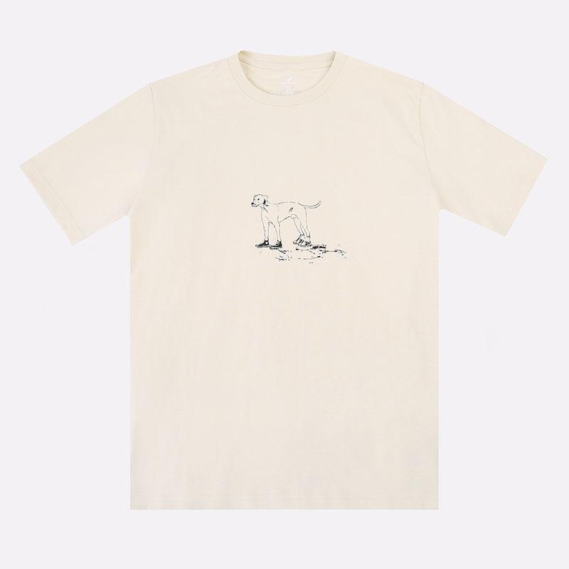 мужскую бежевую  футболка converse x bandulu tee 10022242190 - цена, описание, фото 1