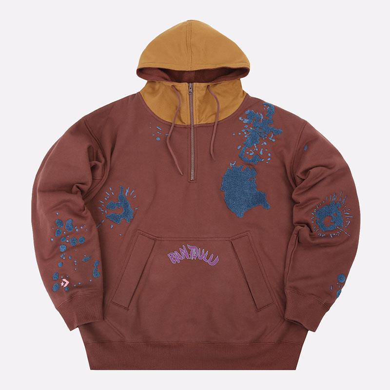 мужская коричневая толстовка Converse x Bandulu Hoodie 10021726201 - цена, описание, фото 1