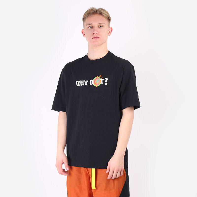 мужскую черную  футболка jordan why not? tee DD3324-010 - цена, описание, фото 1