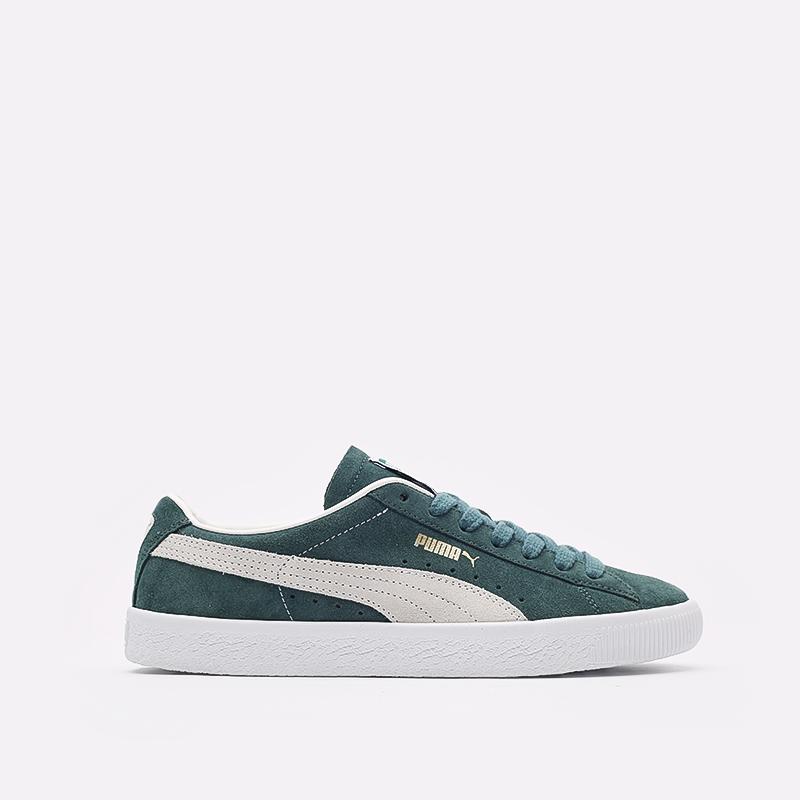 мужские зелёные  кроссовки puma suede vtg 37492102 - цена, описание, фото 1