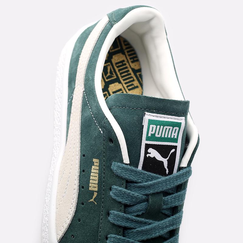 мужские зелёные  кроссовки puma suede vtg 37492102 - цена, описание, фото 7