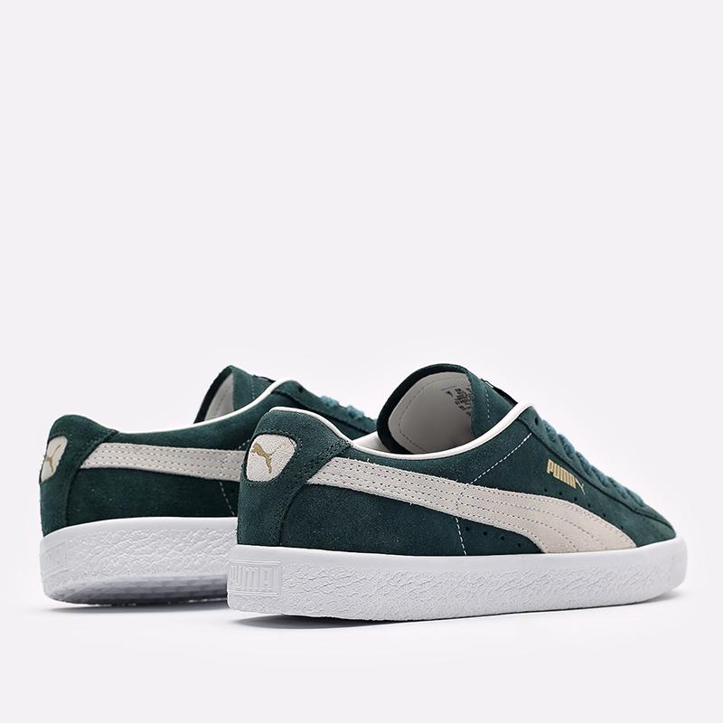 мужские зелёные  кроссовки puma suede vtg 37492102 - цена, описание, фото 3