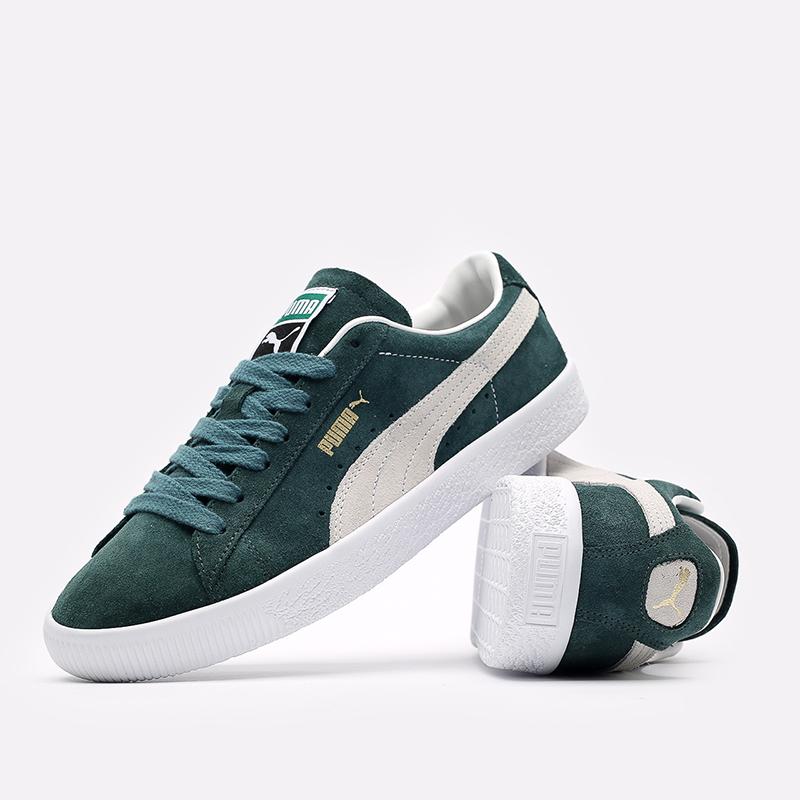 мужские зелёные  кроссовки puma suede vtg 37492102 - цена, описание, фото 5
