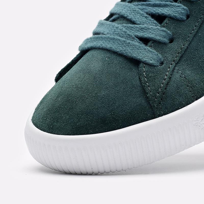 мужские зелёные  кроссовки puma suede vtg 37492102 - цена, описание, фото 6