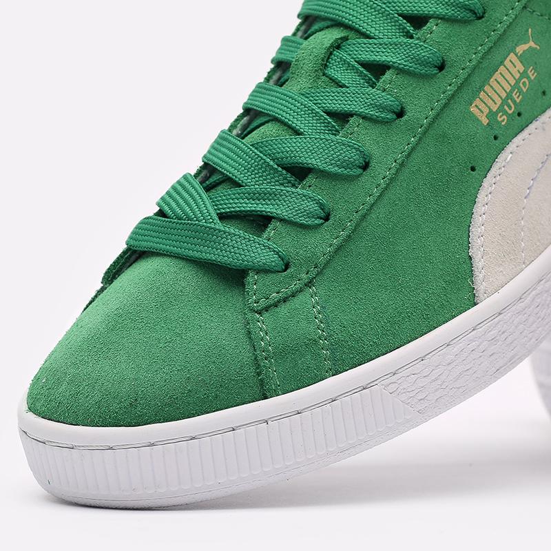 мужские зелёные  кроссовки puma suede teams 38016802 - цена, описание, фото 5