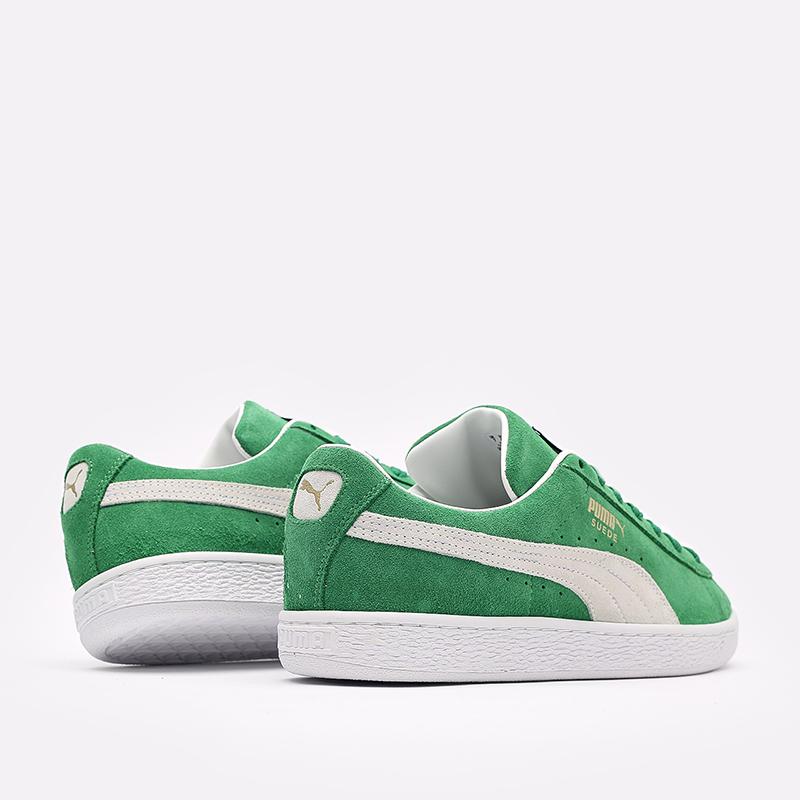мужские зелёные  кроссовки puma suede teams 38016802 - цена, описание, фото 3