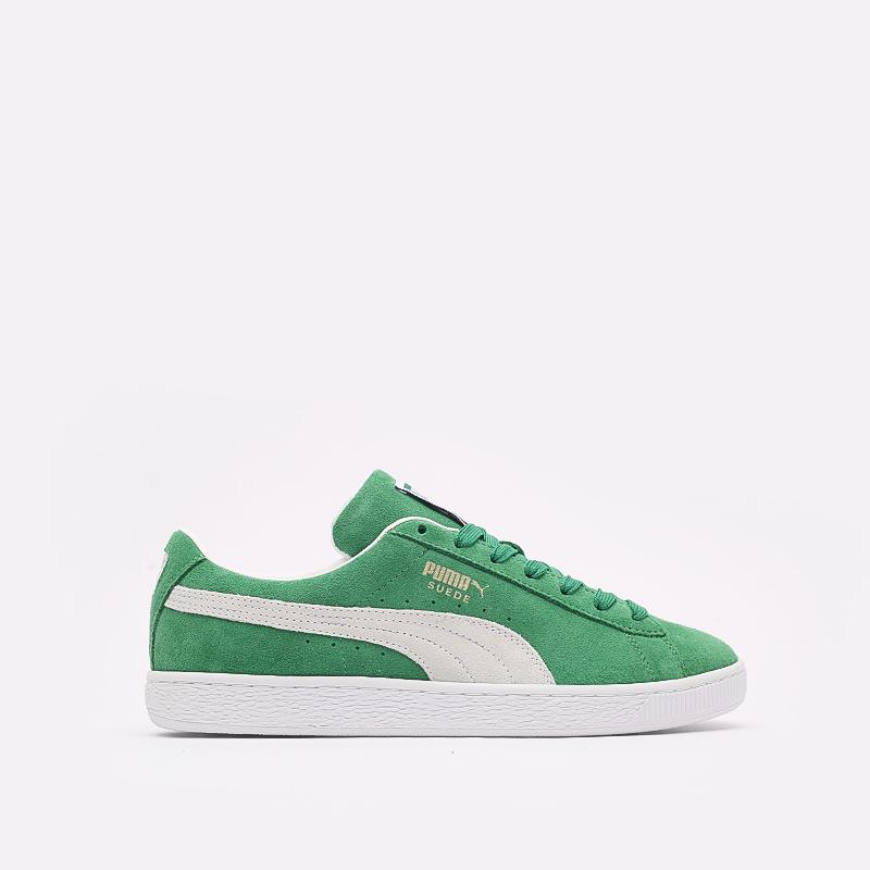 мужские зелёные  кроссовки puma suede teams 38016802 - цена, описание, фото 1