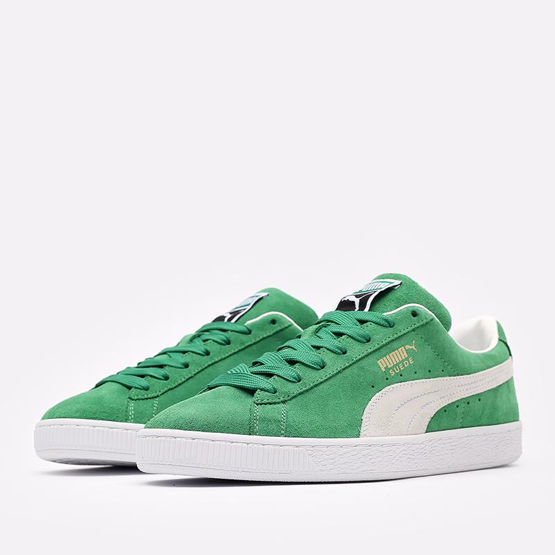мужские зелёные  кроссовки puma suede teams 38016802 - цена, описание, фото 2