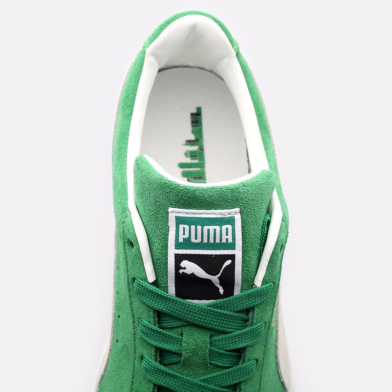 мужские зелёные  кроссовки puma suede teams 38016802 - цена, описание, фото 6
