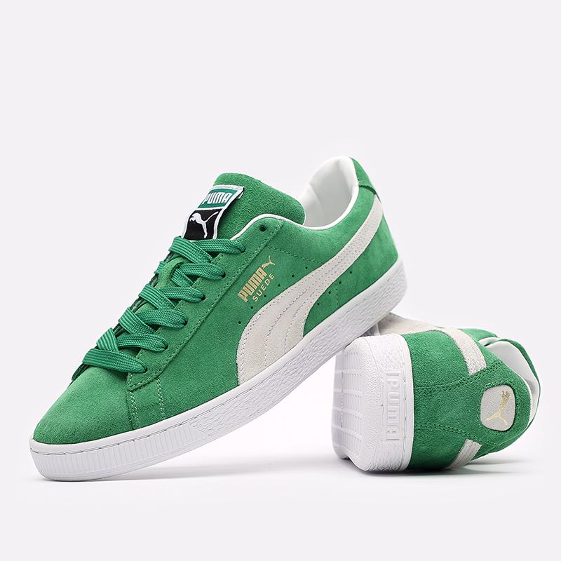 мужские зелёные  кроссовки puma suede teams 38016802 - цена, описание, фото 4
