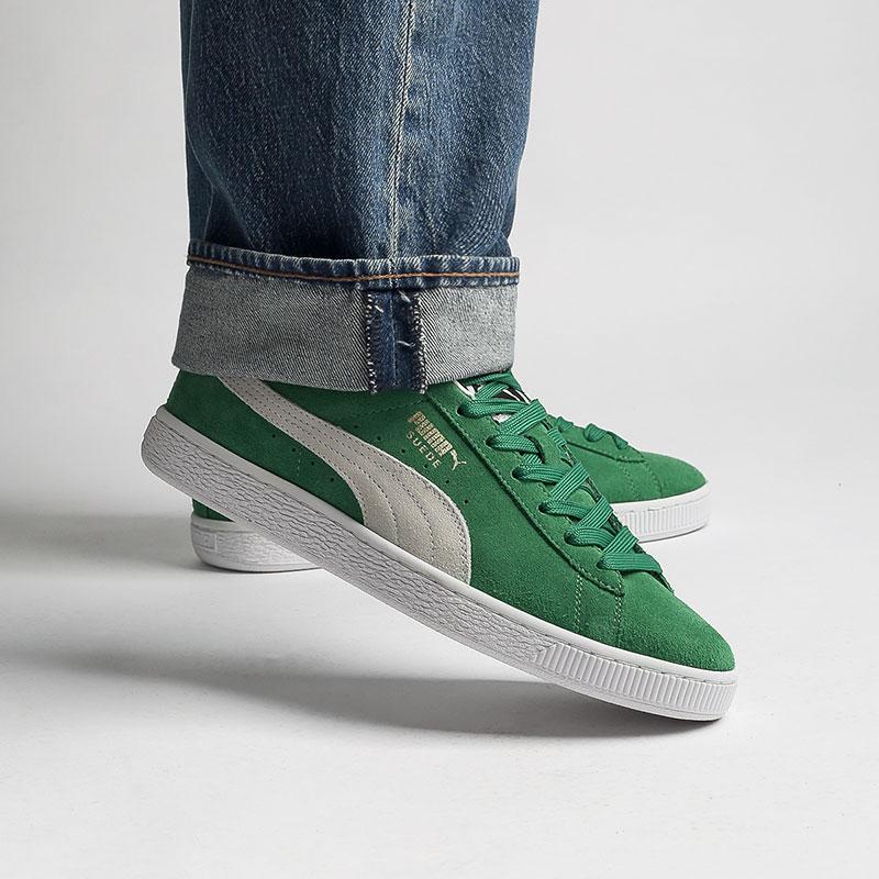 мужские зелёные  кроссовки puma suede teams 38016802 - цена, описание, фото 7