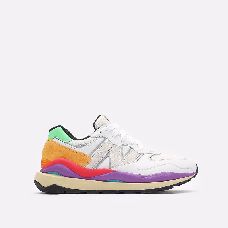 мужские белые  кроссовки new balance 5740 think colorfully M5740LA/D - цена, описание, фото 1