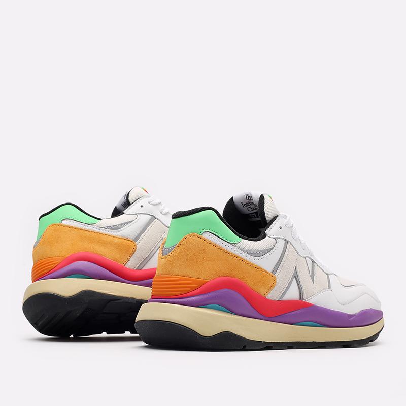 мужские белые  кроссовки new balance 5740 think colorfully M5740LA/D - цена, описание, фото 3