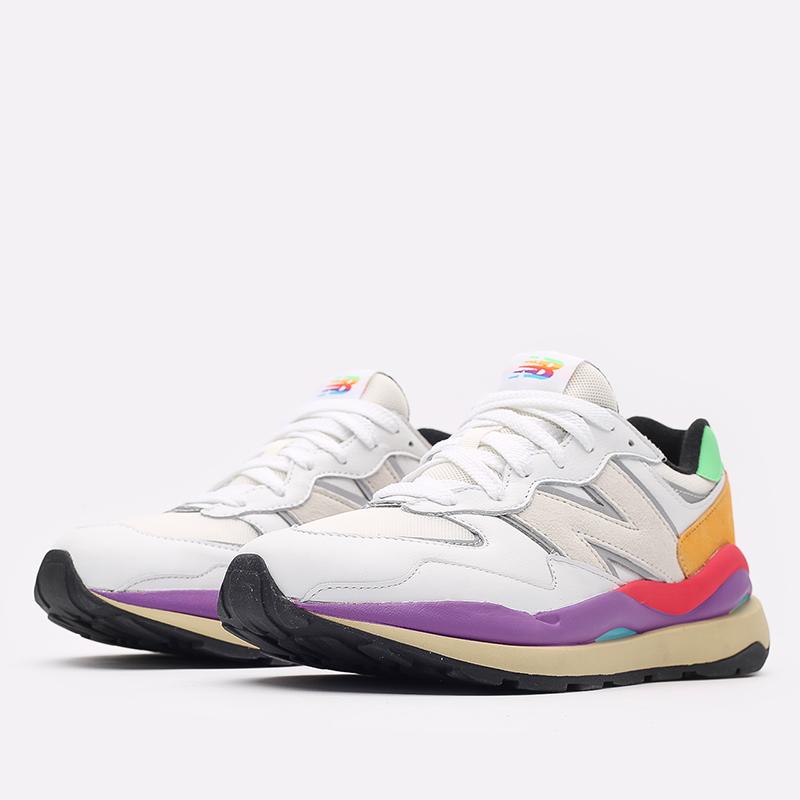 мужские белые  кроссовки new balance 5740 think colorfully M5740LA/D - цена, описание, фото 2