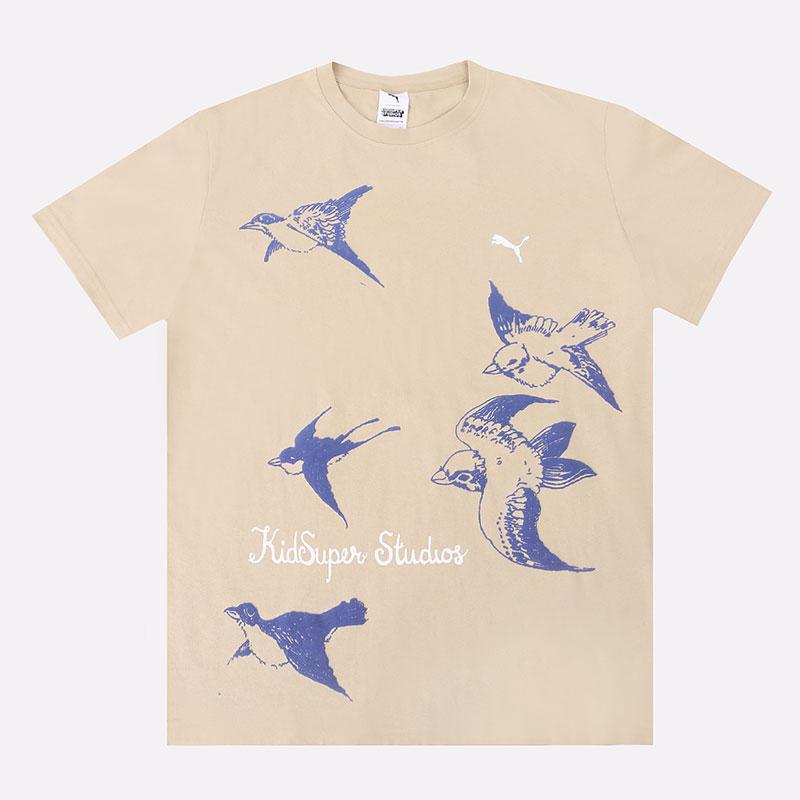 мужскую бежевую  футболка puma x kidsuper studios tee 53041096 - цена, описание, фото 1