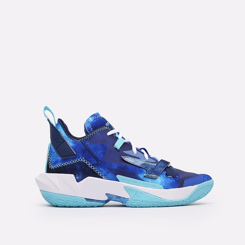 синие  кроссовки jordan why not zero.4 DM1289-401 - цена, описание, фото 1