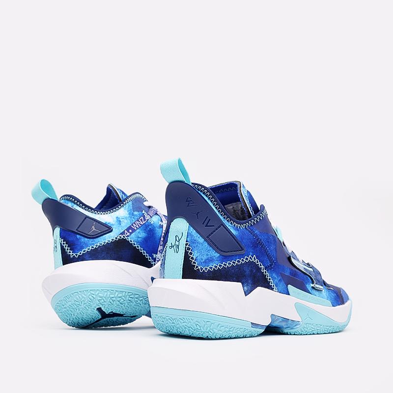 синие  кроссовки jordan why not zero.4 DM1289-401 - цена, описание, фото 3