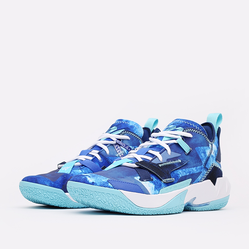 синие  кроссовки jordan why not zero.4 DM1289-401 - цена, описание, фото 2