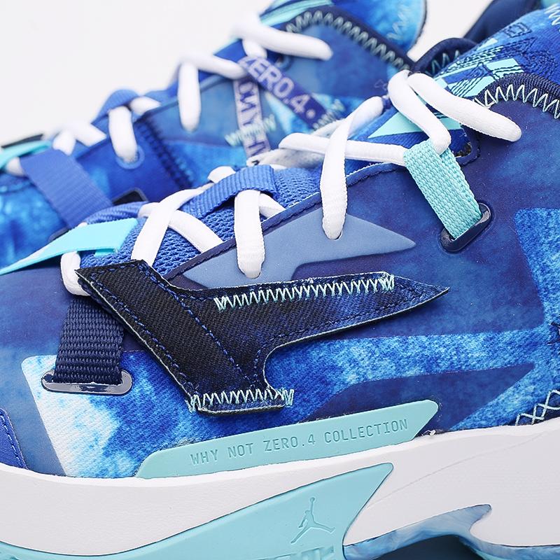 синие  кроссовки jordan why not zero.4 DM1289-401 - цена, описание, фото 5
