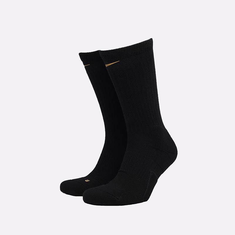 мужские чёрные  носки nike elite crew DB5472-010 - цена, описание, фото 1