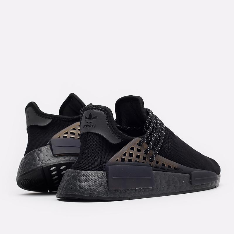 мужские чёрные  кроссовки adidas hu nmd x pharrell williams GX2487 - цена, описание, фото 3