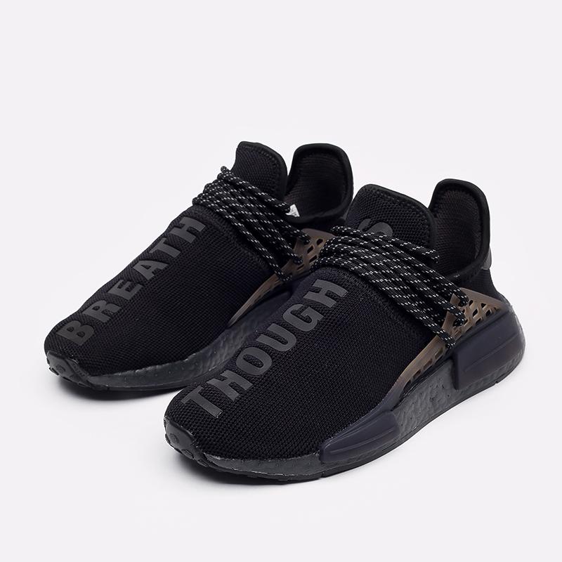 мужские чёрные  кроссовки adidas hu nmd x pharrell williams GX2487 - цена, описание, фото 2