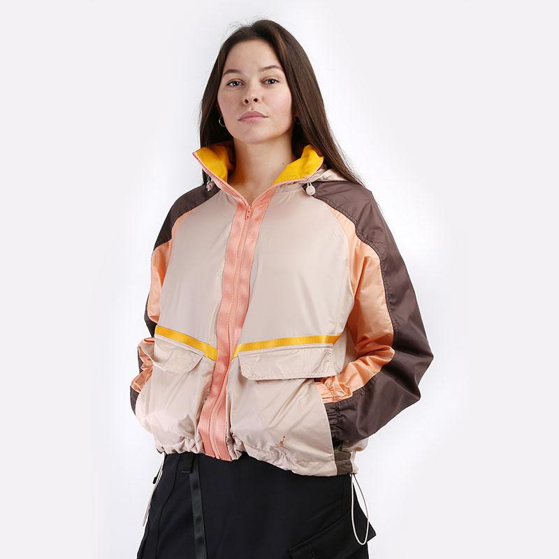 женскую бежевую  куртку jordan future primal women's lightweight jacket DA1520-212 - цена, описание, фото 1