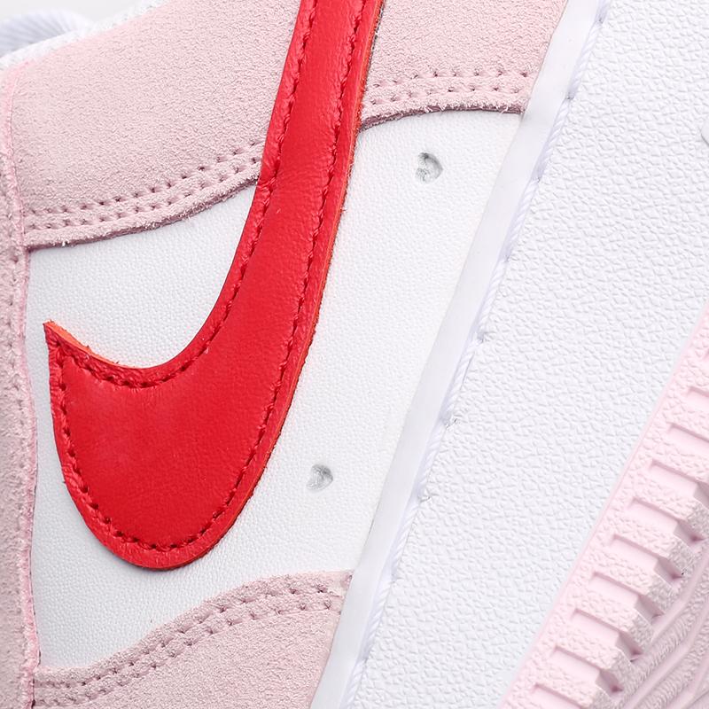 мужские белые, красные, розовые  кроссовки nike air force 1 '07 qs DD3384-600 - цена, описание, фото 8