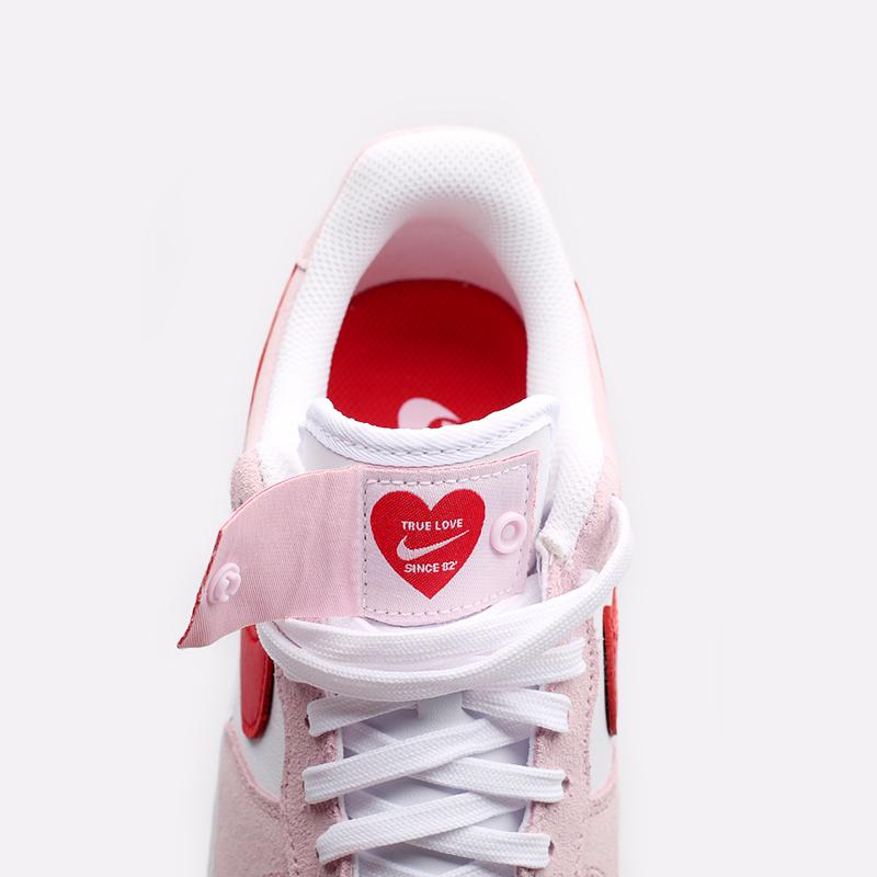 мужские белые, красные, розовые  кроссовки nike air force 1 '07 qs DD3384-600 - цена, описание, фото 5