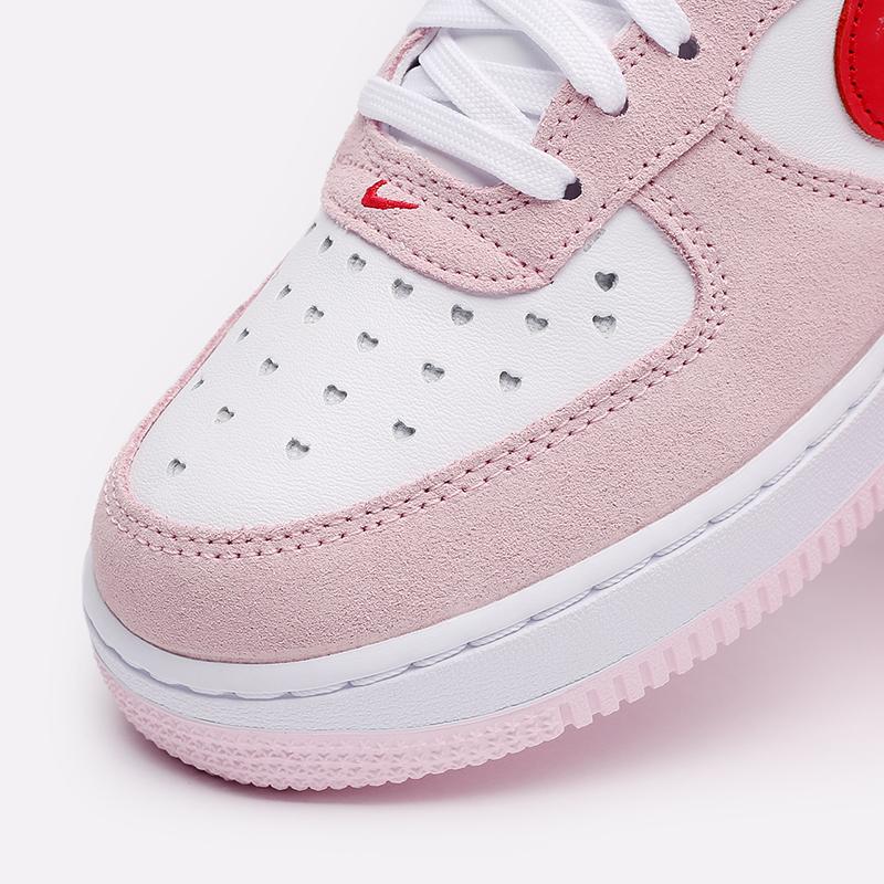 мужские белые, красные, розовые  кроссовки nike air force 1 '07 qs DD3384-600 - цена, описание, фото 6
