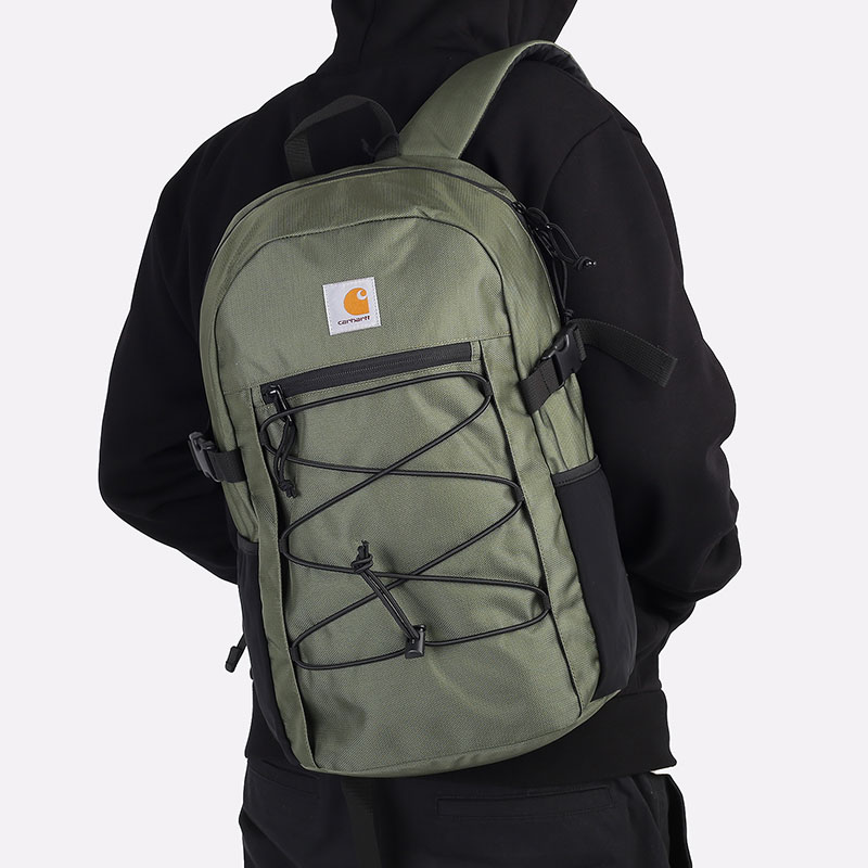 зеленый  рюкзак carhartt wip delta backpack 18l I027538-dollar - цена, описание, фото 1