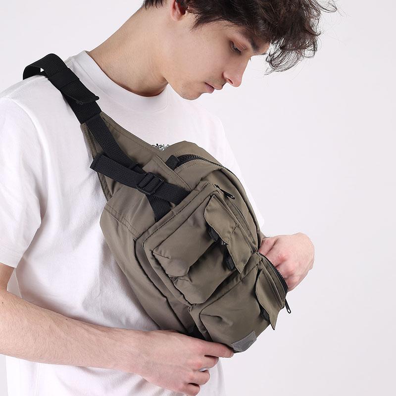 зеленую  сумка carhartt wip elmwood hip bag I026281-moor - цена, описание, фото 6