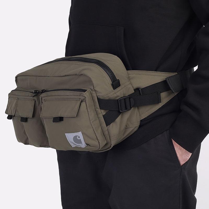зеленую  сумка carhartt wip elmwood hip bag I026281-moor - цена, описание, фото 1