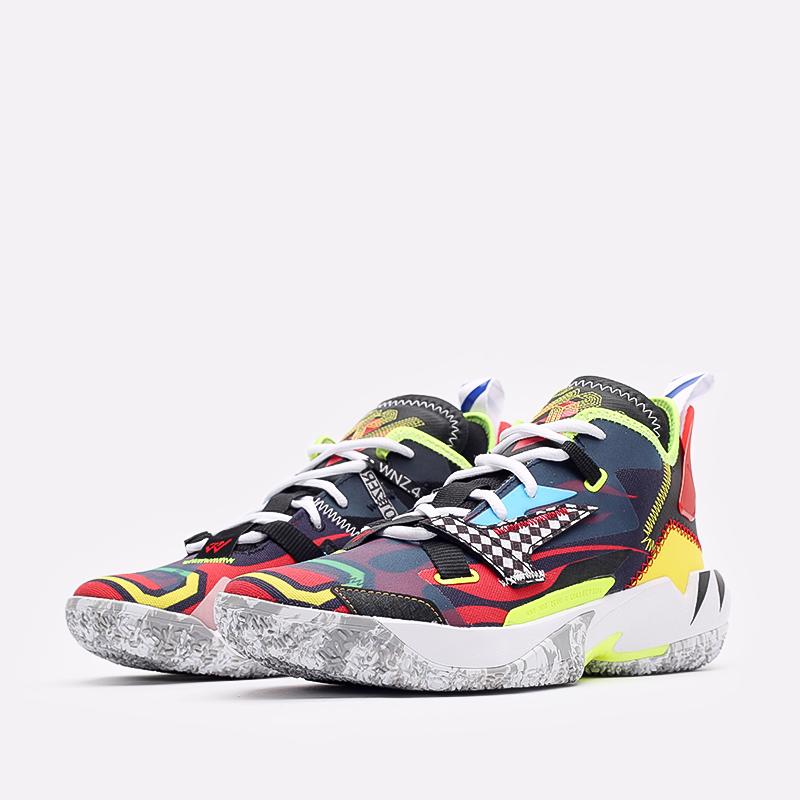 мужские разноцветные  кроссовки jordan why not zero.4 DD4889-006 - цена, описание, фото 2