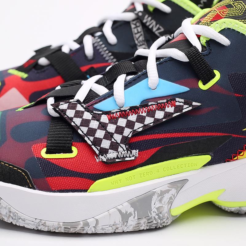 мужские разноцветные  кроссовки jordan why not zero.4 DD4889-006 - цена, описание, фото 5
