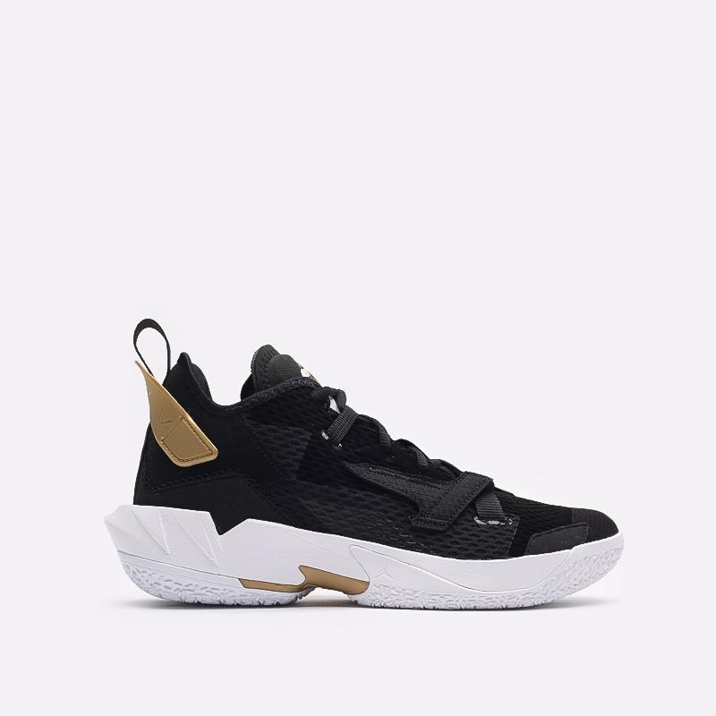 мужские чёрные  кроссовки jordan why not zero.4 CQ4230-001 - цена, описание, фото 1