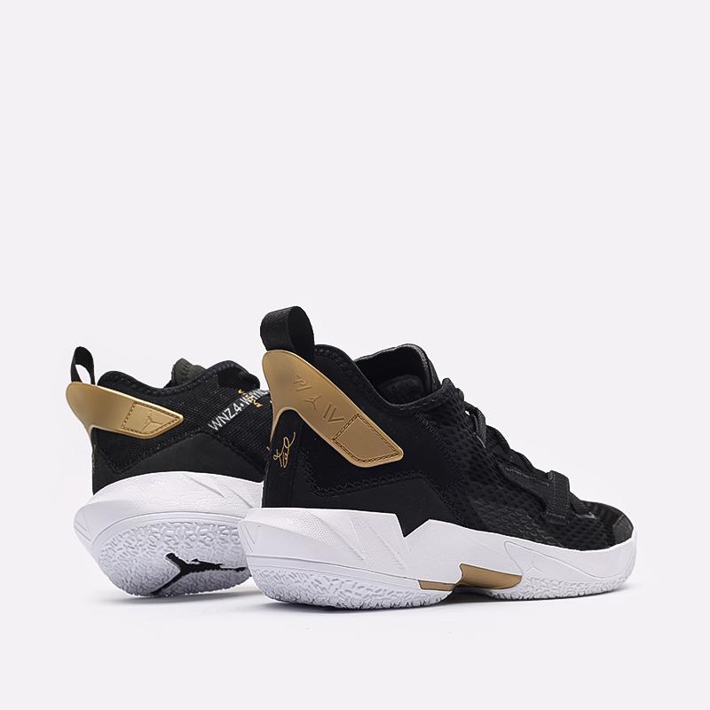 мужские чёрные  кроссовки jordan why not zero.4 CQ4230-001 - цена, описание, фото 3