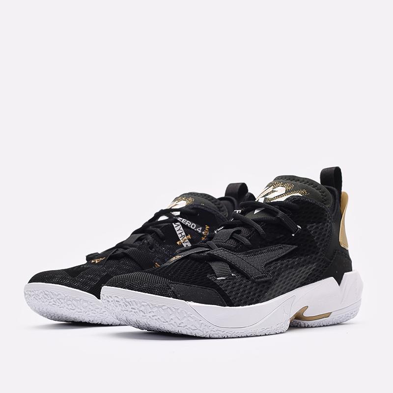 мужские чёрные  кроссовки jordan why not zero.4 CQ4230-001 - цена, описание, фото 2
