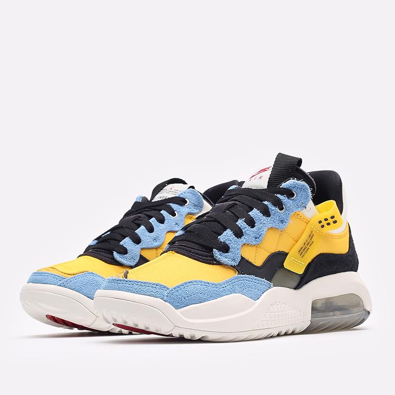 женские жёлтые, синие, чёрные  кроссовки jordan wmns ma2 CW5992-700 - цена, описание, фото 2