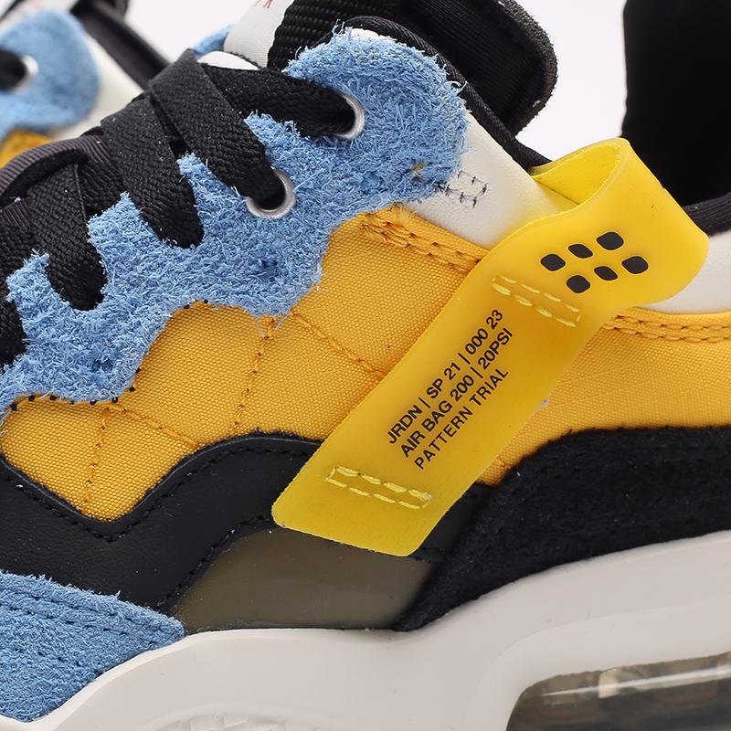женские жёлтые, синие, чёрные  кроссовки jordan wmns ma2 CW5992-700 - цена, описание, фото 5