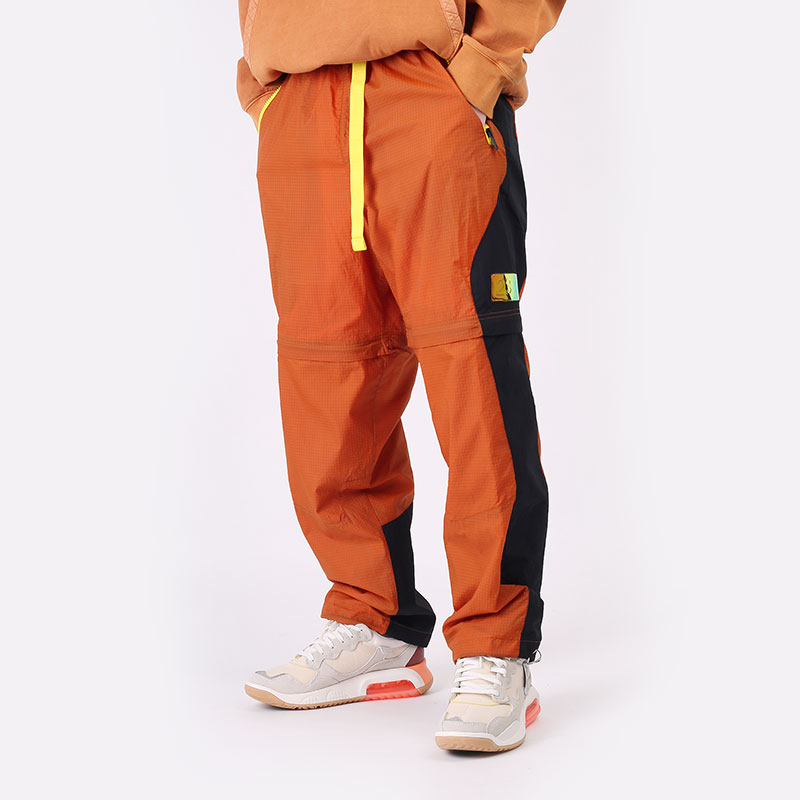 мужские оранжевые  брюки jordan 23 engineered convertible tracksuit bottoms CV2788-875 - цена, описание, фото 1
