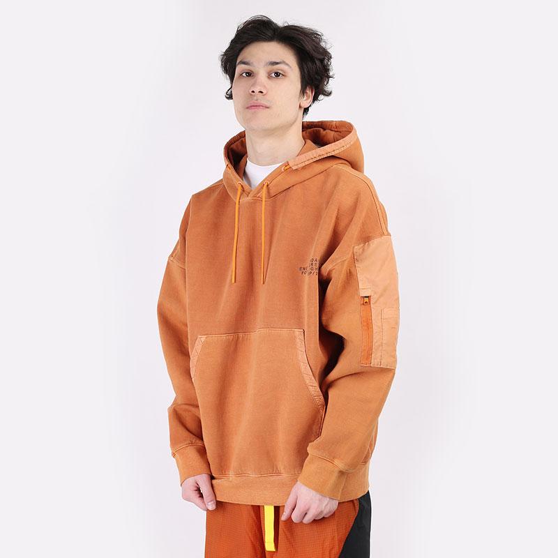 мужскую оранжевую  толстовка jordan 23 engineered washed fleece hoodie CV2766-875 - цена, описание, фото 1