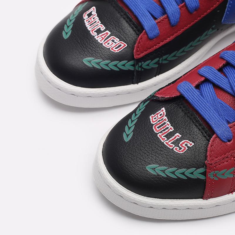 бордовые  кеды converse pro leather hi x chinatown market x nba 171241 - цена, описание, фото 6