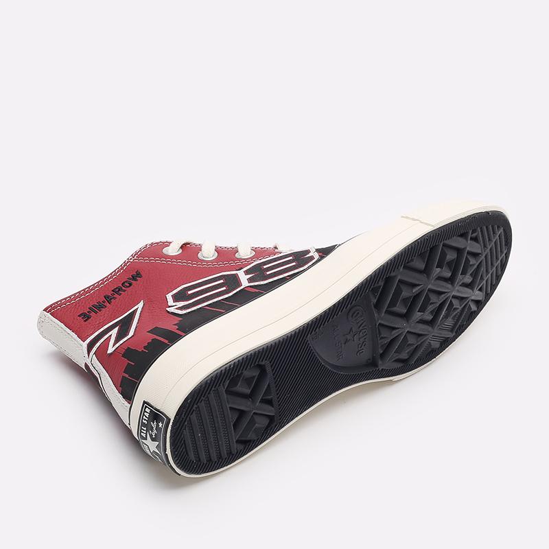 красные кеды Converse Chuck 70 Hi x Chinatown Market x NBA 171243 - цена, описание, фото 3