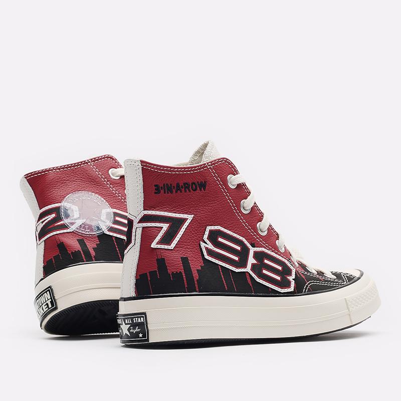красные кеды Converse Chuck 70 Hi x Chinatown Market x NBA 171243 - цена, описание, фото 4