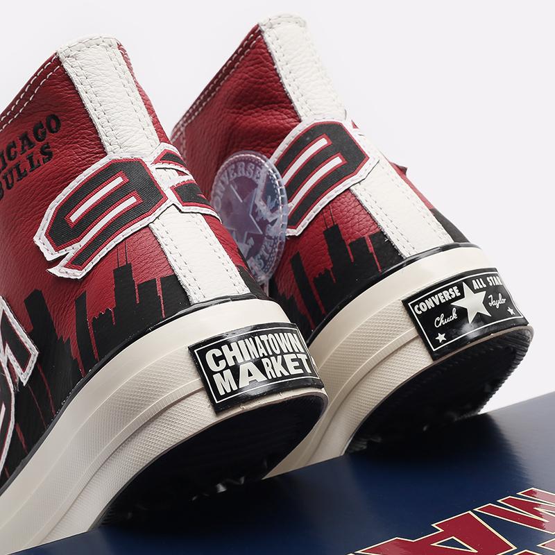 красные кеды Converse Chuck 70 Hi x Chinatown Market x NBA 171243 - цена, описание, фото 6