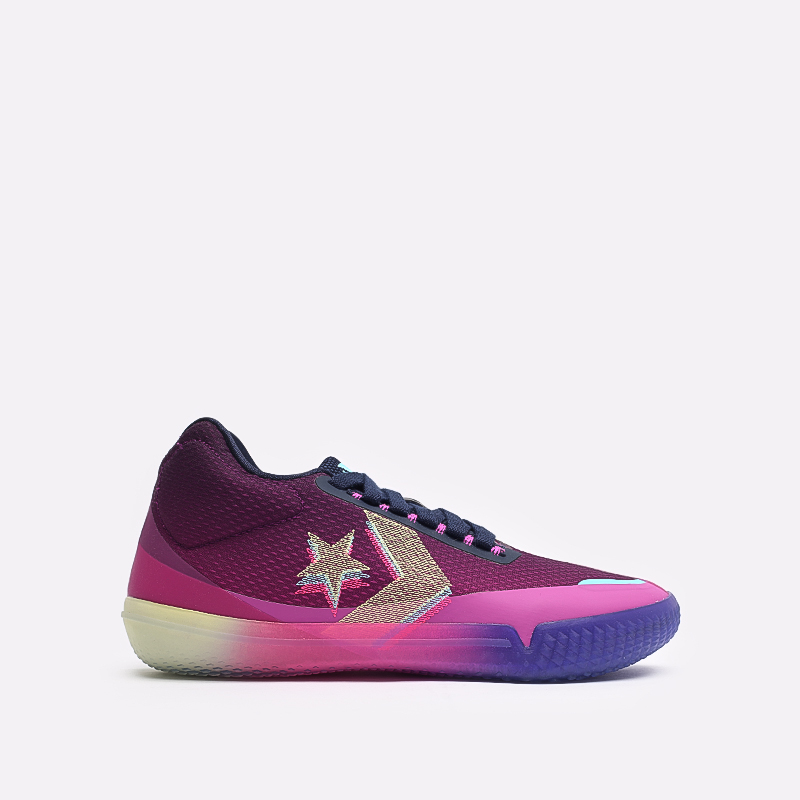 фиолетовые  кеды converse all star bb evo mid 170290 - цена, описание, фото 1