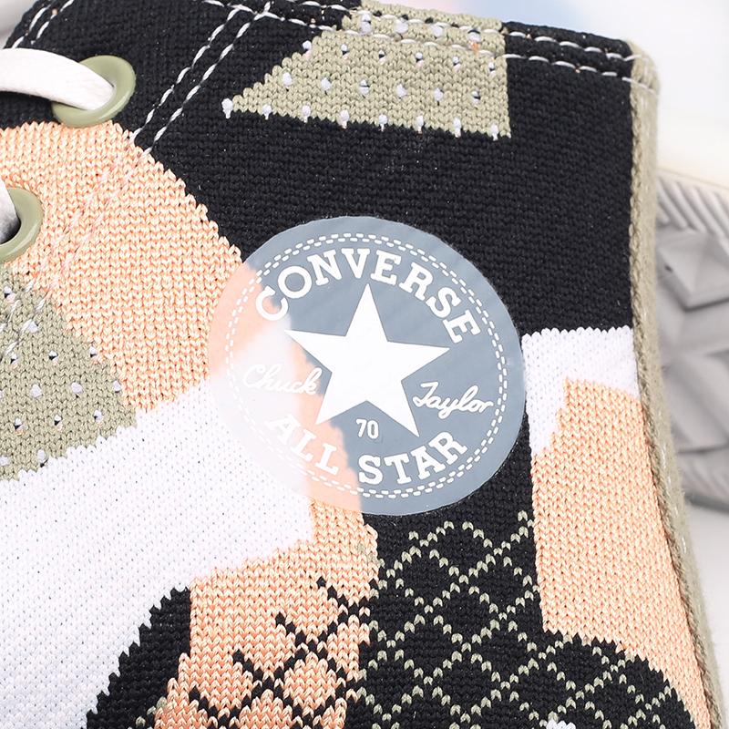 женские разноцветные  кеды converse chuck 70 hi 570273 - цена, описание, фото 4